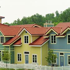 High Barrel Roof Tile in Custom Concrete Tile – 10
