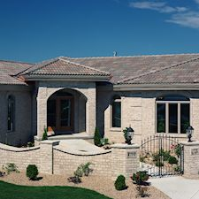 High Barrel Roof Tile in Custom Concrete Tile – 7