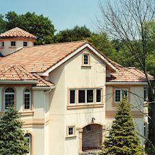 High Barrel Roof Tile in Custom Concrete Tile – 16