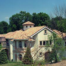 High Barrel Roof Tile in Custom Concrete Tile – 15