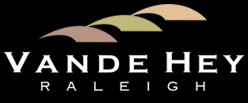 Vande Hey Raleigh logo with three shapes representing roof tiles