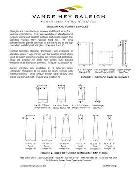 Roof Tile Specifications