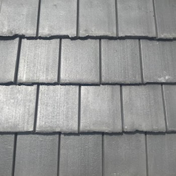 In Stock Roofing Tiles - Light Charcoal Gray Flat Tile